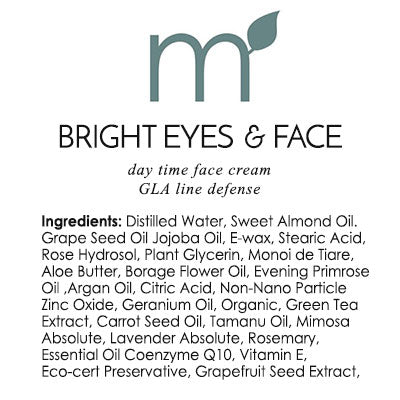 Bright Eyes & Face Unisex Day Cream with Zinc - me and a tree skincare