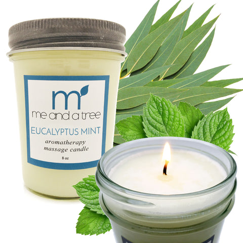 Eucalyptus Mint  Soy Candle - me and a tree skincare