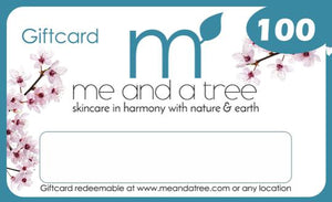 Me and a Tree Natural Skin Care Gift Cards 100