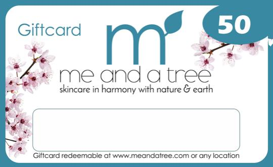 Me and a Tree Natural Skin Care Gift Cards 50