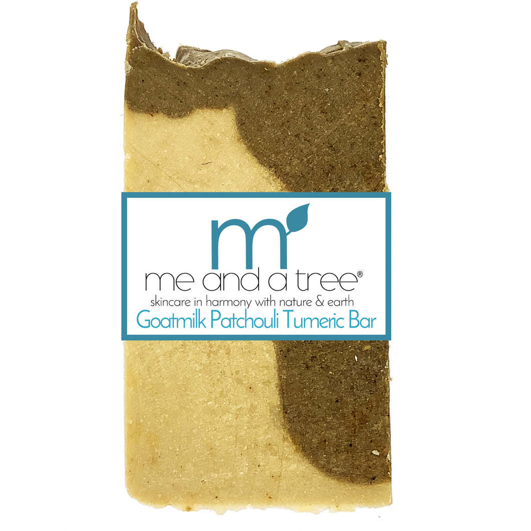 Goat Milk Patchouli Tumeric Natural Soap - me and a tree skincare