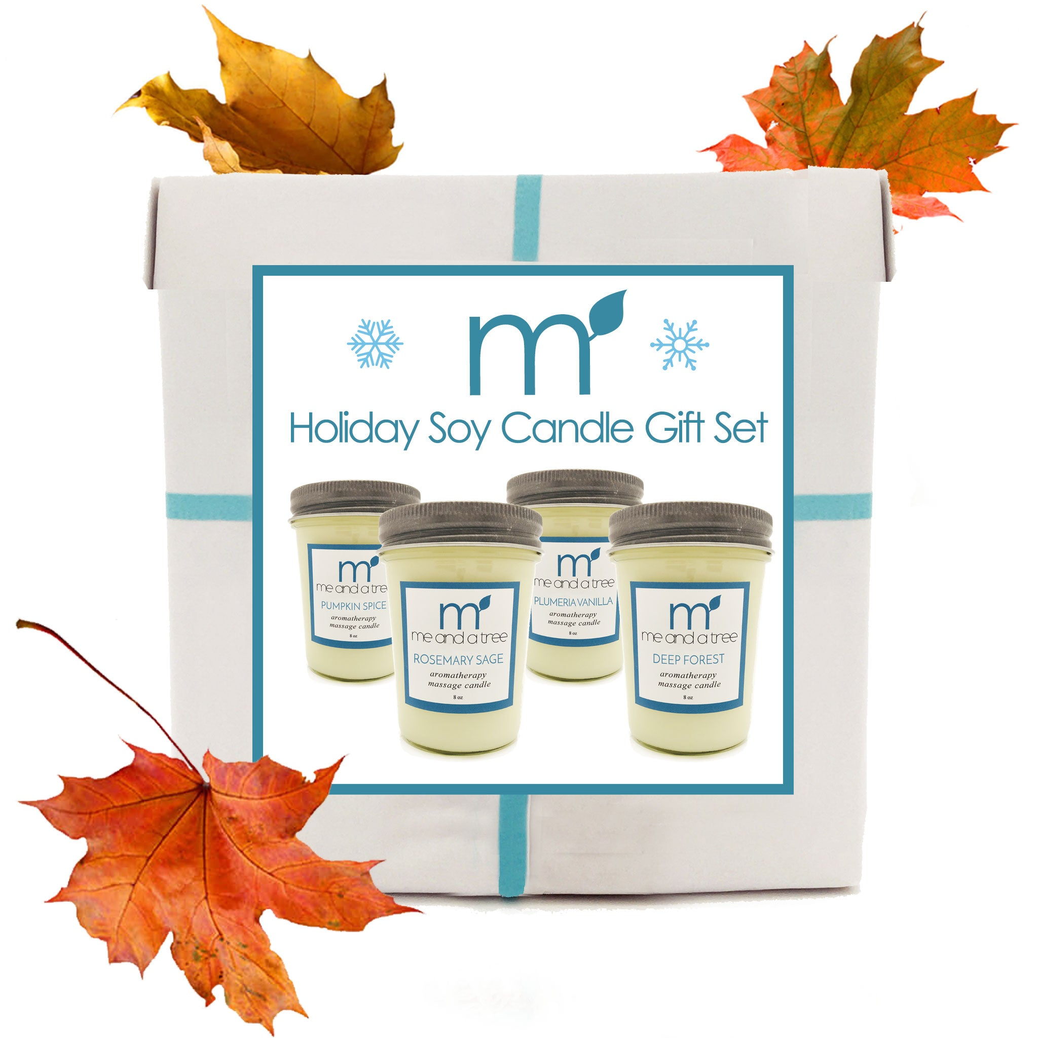 Best Natural  Christmas Thanksgiving Holiday Soy Candle Gift Set