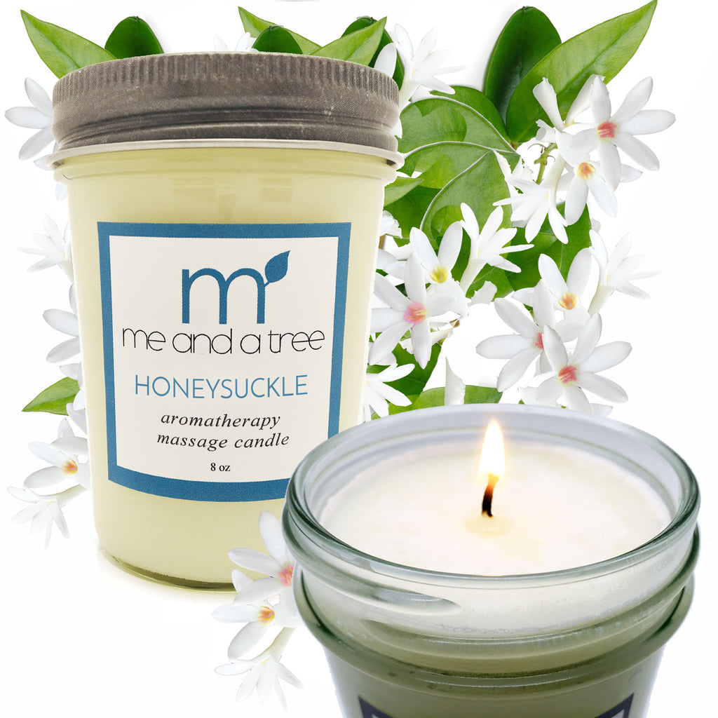 Best Romantic Aromatherapy Massage Natural Soy Candle Honeysuckle Jasmine