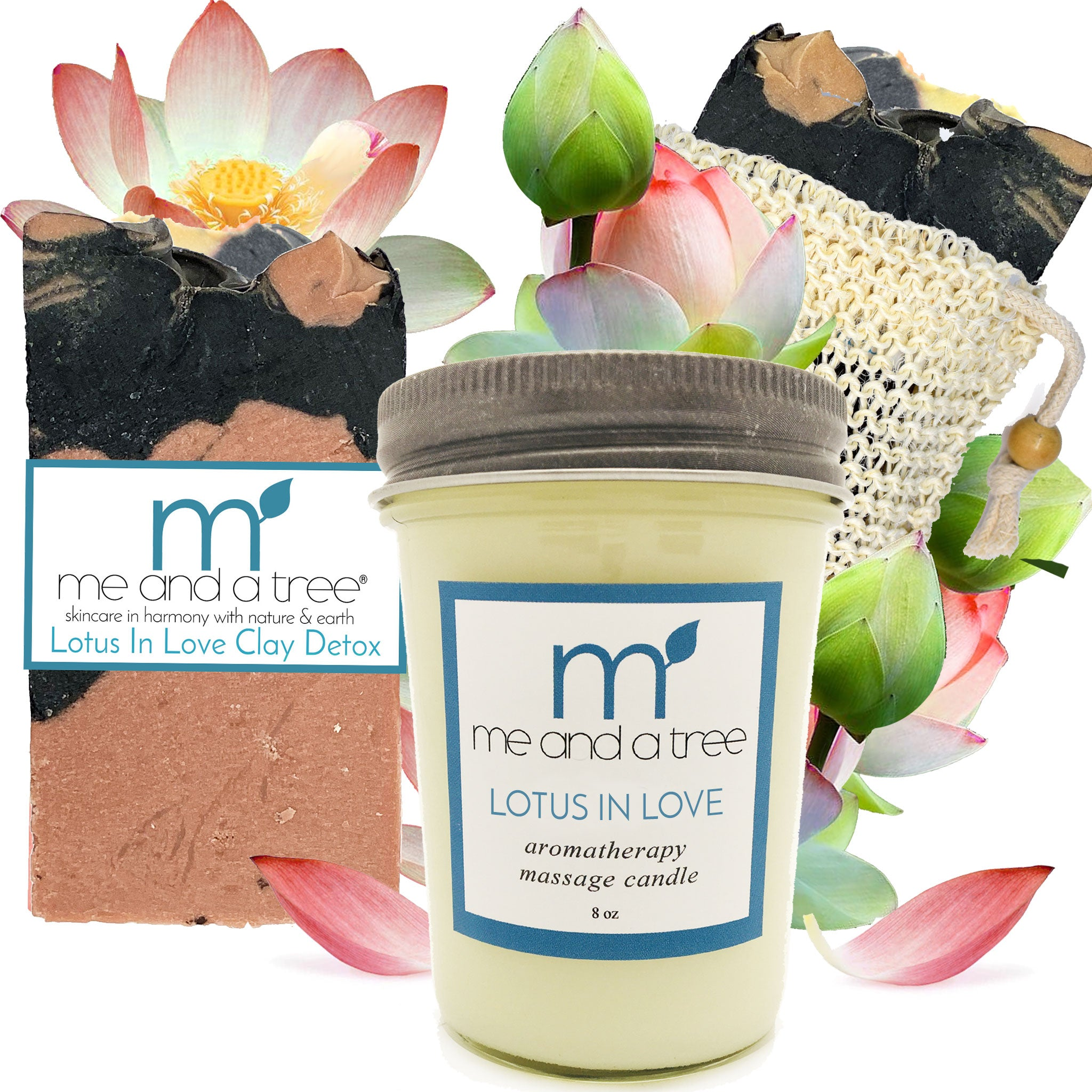 Best Natural Lotus In Love Candle Soap Gift Set For Women & Men