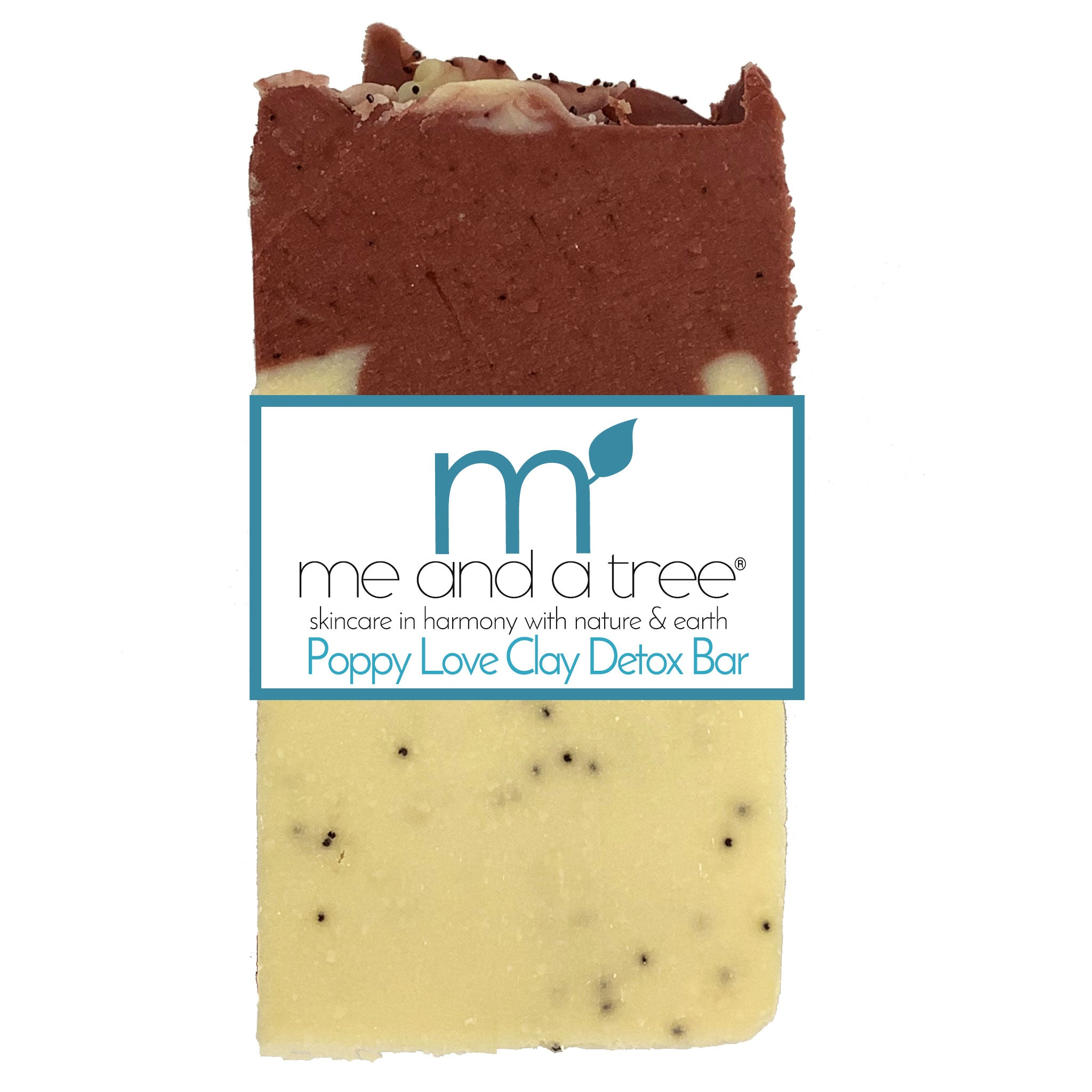 Best Natural Poppy Love Clay Detox Bar Soap For Men & Women