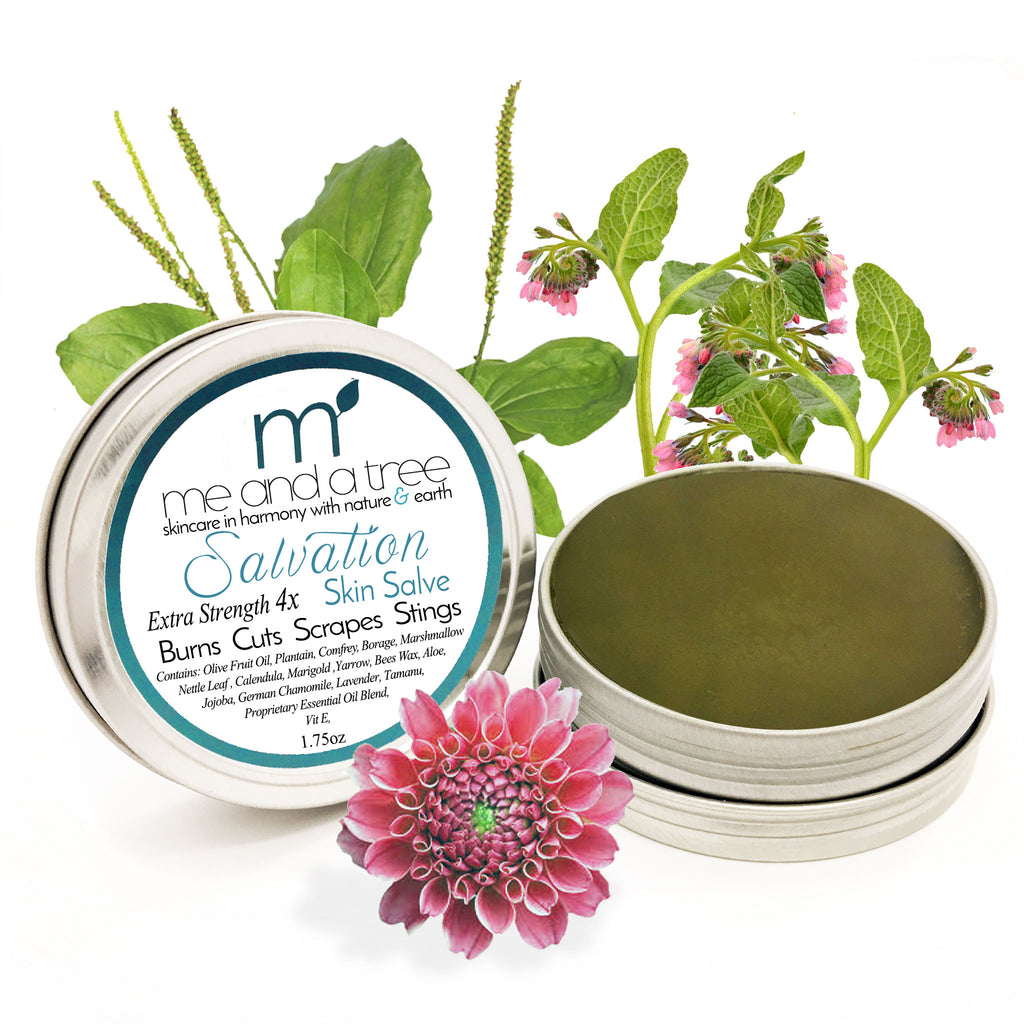 Salvation 100 Percent Natural Organic Skin Calming Burn Salve