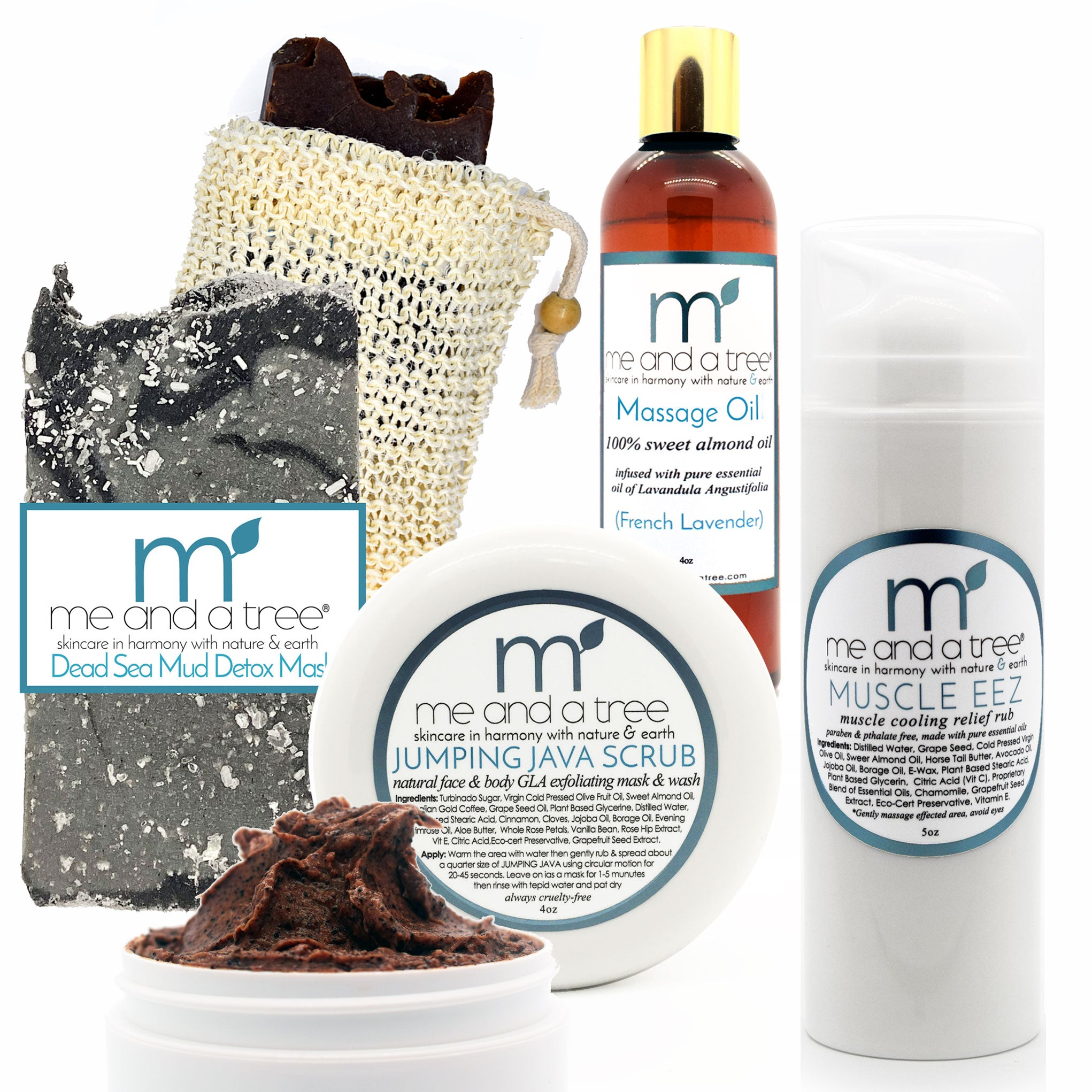 Natural Skin Care Massage Spa Gift Set Scrub Mask Oil Lotion