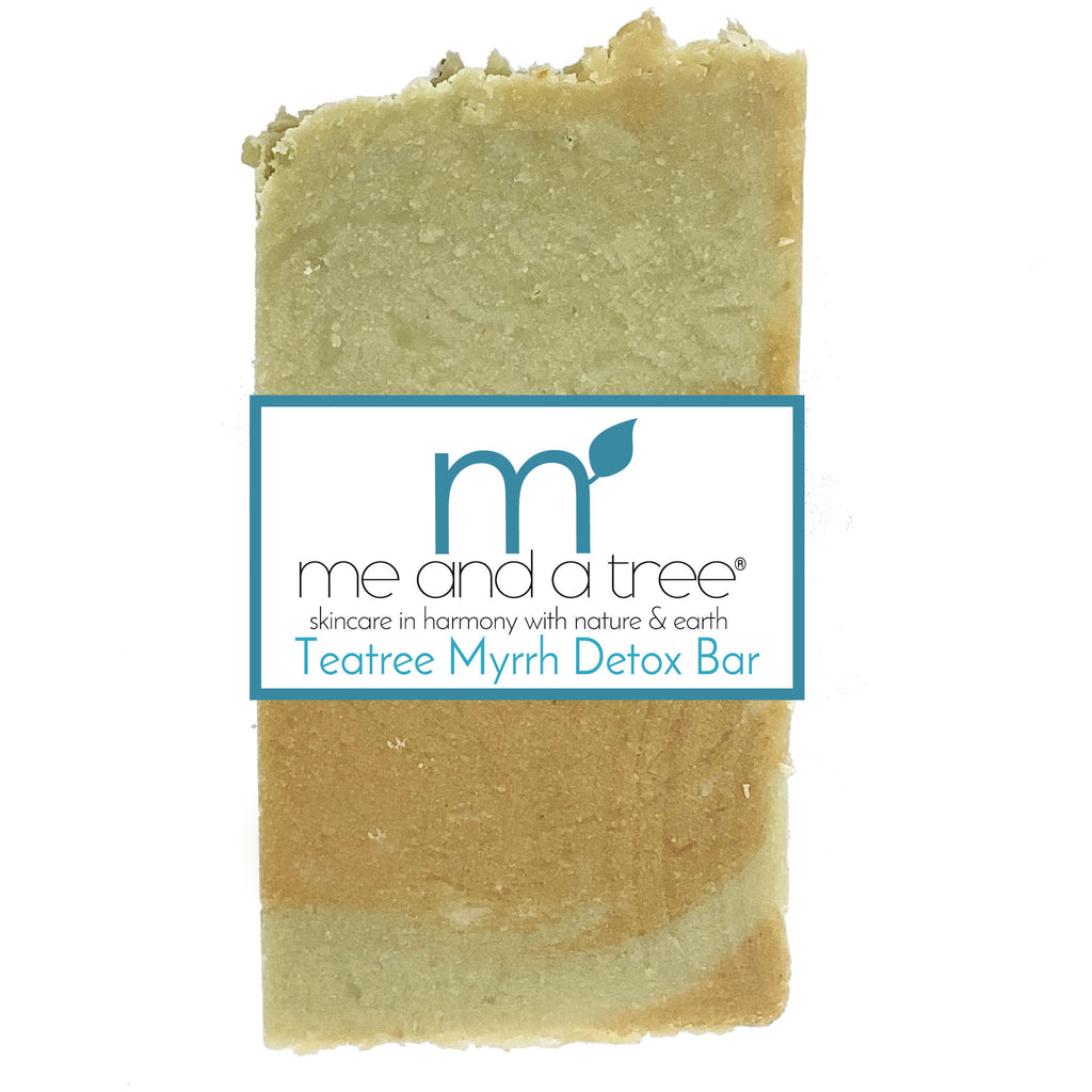 Best Natural Tea Tree Myrrh Natural Antiseptic Detox Bar Soap For Men & Women