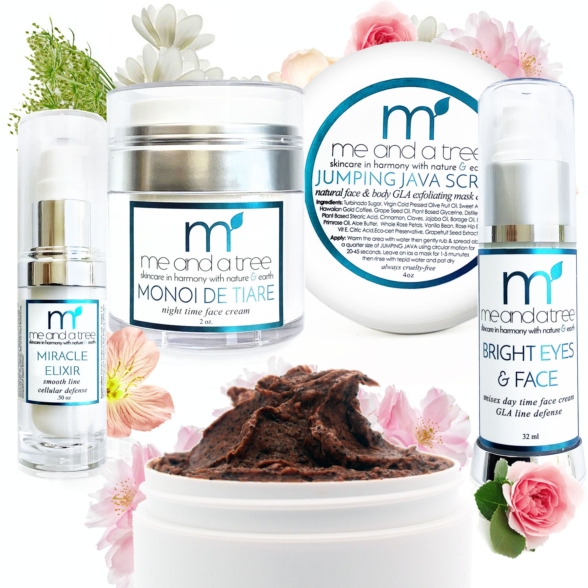 Best Natural Skin Care Face Care Gift Set Routine Scrub Mask Serum Eye Face Cream