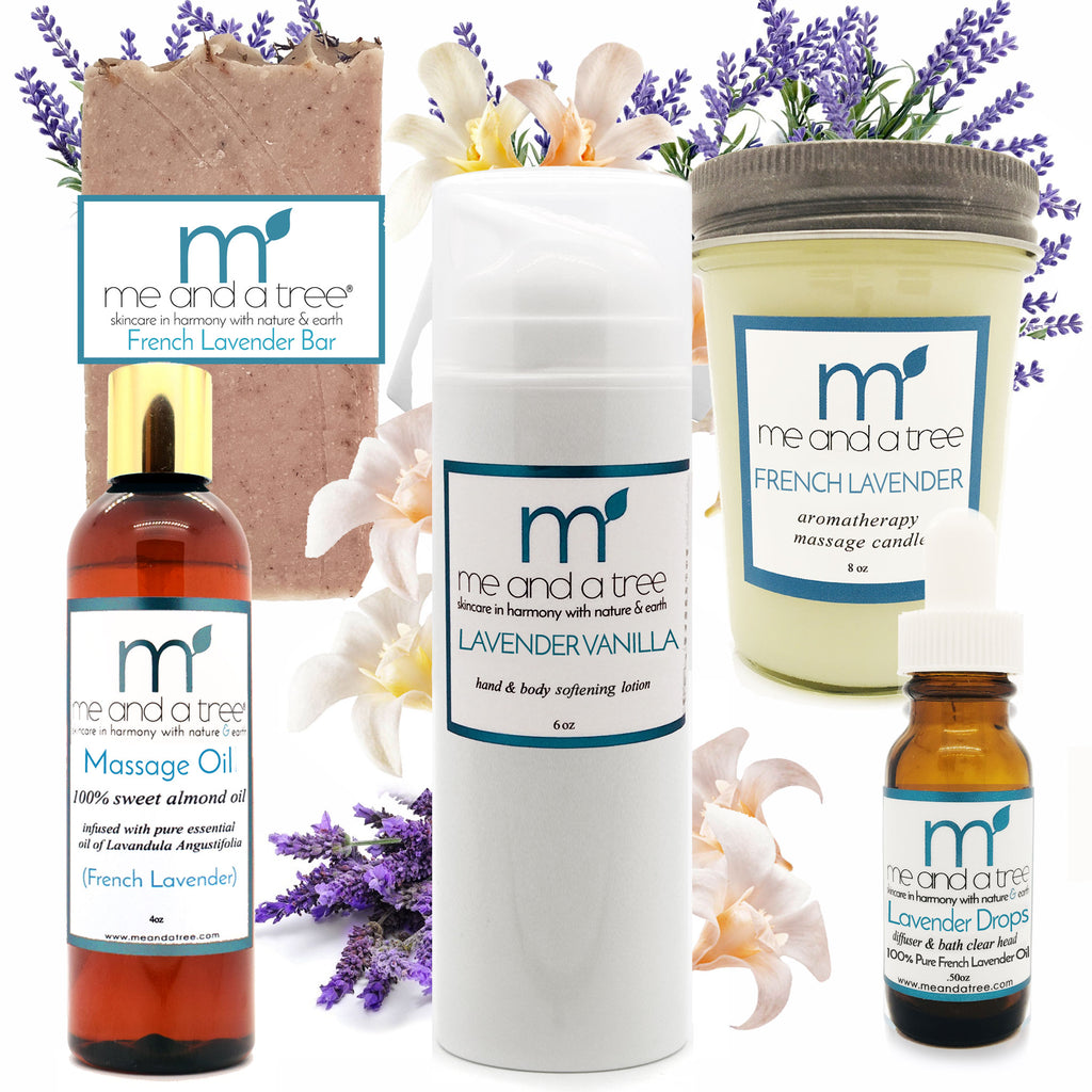 Best Natural Organic Lavender Lovers Home Massage Spa Gift Set