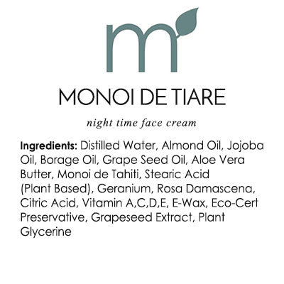 Monoi De Tiare Unisex Face Cream - me and a tree skincare
