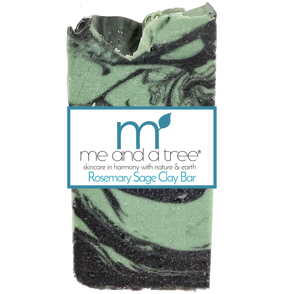 Best Natural Rosemary Sage Clay Bar Soap For Men & Women
