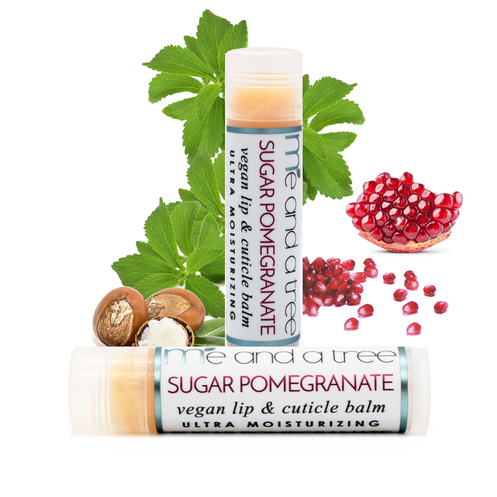 Best Natural Organic Sugar Pomegranate Lip Balm