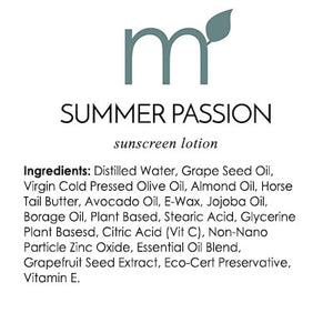 Natural Sunscreen Summer Passion Biodegradable Reef Safe with Borage - me and a tree skincare