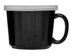 Sagaform Soup Mug with Lid, Black