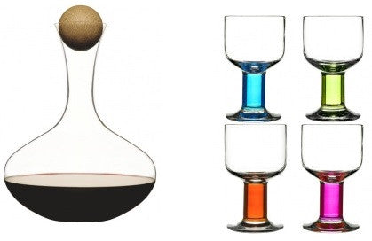 Sagaform Wine Glasses and Carafe Set