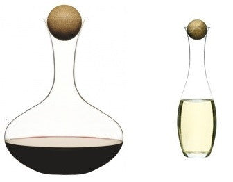 Sagaform Wine Carafe & Wine/Water Carafe Set