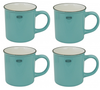 Capventure Cabanaz - Cup, Ceramic Coffee Mug Set of 4 -Arctic Blue