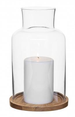 SAGAFORM Oval Oak candle holder large