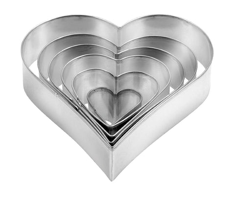 Heart shaped cookie cutters DELÍCIA 6 pcs