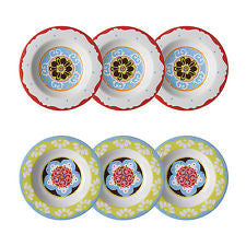 Nador Set of 6 Soup Plates Mixed Colours Mediterranean Style