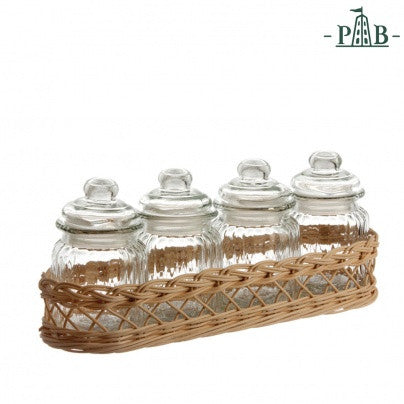 La Porcellana Bianca WICKER FOR 4 VERSILIA CONTAINER