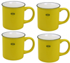 Capventure Cabanaz - Cup, Ceramic Coffee Mug Set of 4 -Sunny Yellow