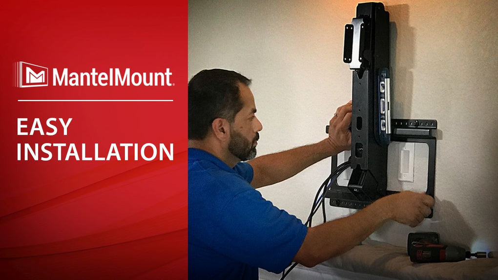 Mantelmount the original pull down tv mount for any - Vertical sliding tv wall mount ...