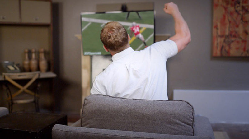 With a MantelMount, all ages can feel safe bringing the TV down to eye level