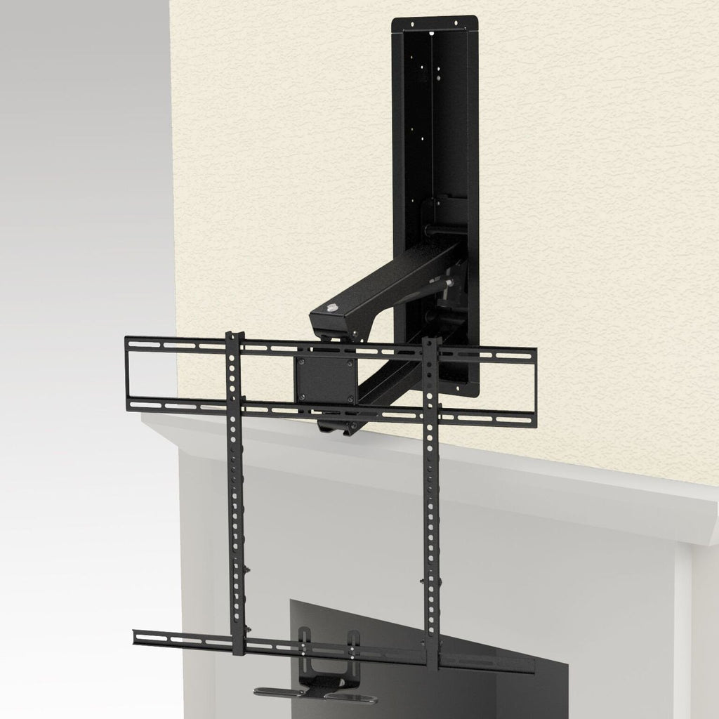 rb100 recess box for mm700 mount mantelmount. Black Bedroom Furniture Sets. Home Design Ideas