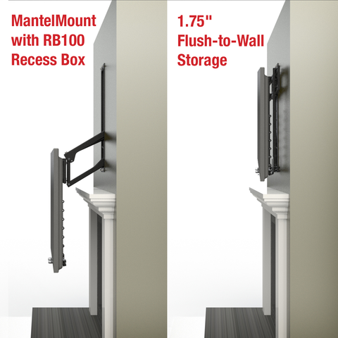 MantelMount RB100 Recess Box for MM700 Pro Series Pull Down TV Mount