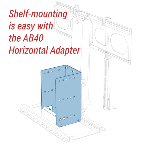 AB40 Horizontal Adapter Bracket - MantelMount Pull Down TV Mounts