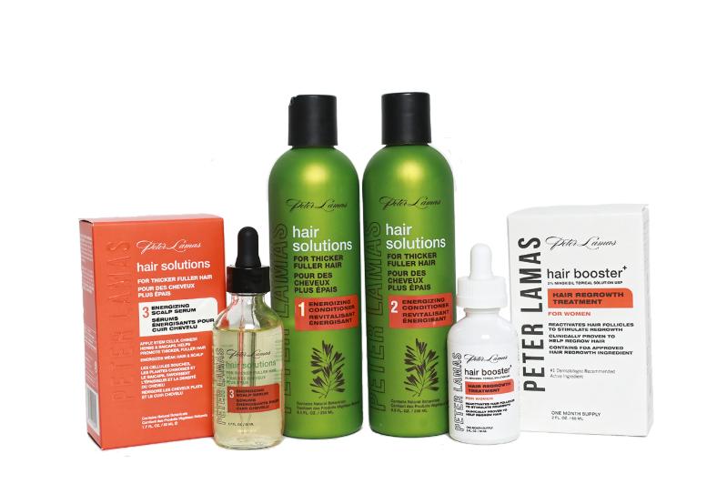 Hair Solutions | 3-Step Energizing System for Hair Growth w/ Hair Booster+