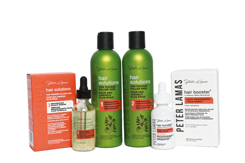 Peter Lamas Hair Solutions | 3-Step Energizing System for Hair Growth w/ Hair Booster+