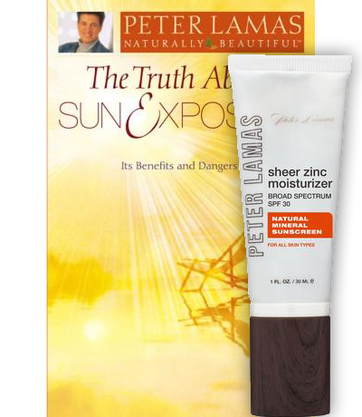 Sheer Zinc Moisturizer Broad Spectrum SPF 30 & The Truth About Sun Exposure Book