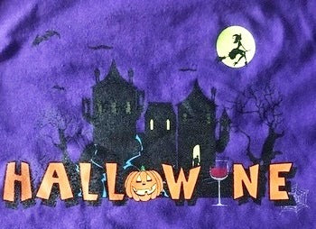 Womens Hallowine ~ Halloween T - Glow in the Dark Moon!!