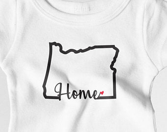 Onesie and Toddler white Oregon Home Onesie (White and Purple Available!) ~ T-shirt