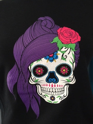 Womens Sugar Skull Favorite T-shirt