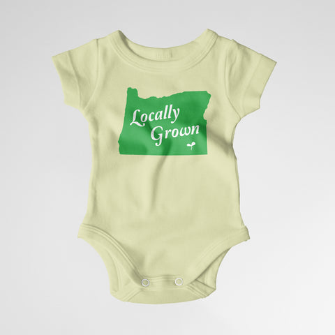 "Oregon ""Locally Grown"" Onesies ~ Yellow, Pink and Blue Available!!"