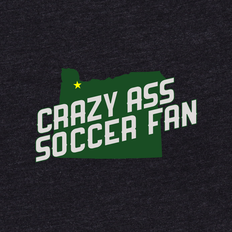 Womens Crazy Ass Soccer Fan T-Shirt