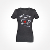 Womens - I Love Portland - Coffee T-shirt - SALE