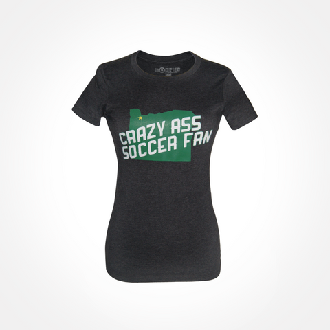 Womens - Crazy Ass Soccer Fan T-Shirt