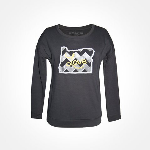 Womens - Oregon Love - Scoop Neck Sweatshirt