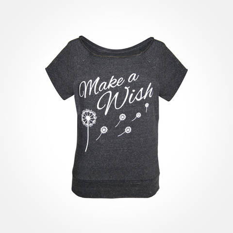 Womens ~ Make A Wish Eco-Fleece Short Sleeve Sweatshirt