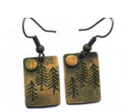 Handcrafted Forest Earrings
