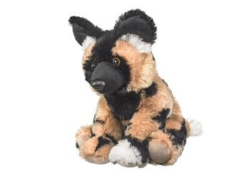 Large Fluffy African Painted Dog
