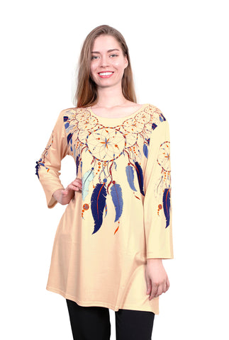 Long Sleeve Dream Catcher and Mystic Feather Top