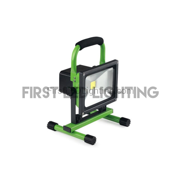 20W Rechargeable LED Flood Light - Green-First LED Lighting Center