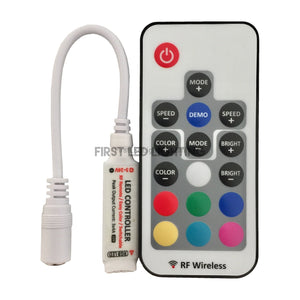 RGB PRO Mini Controller with 17-Key RF Remote-First LED Lighting Center