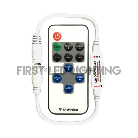 Single Color PRO Mini Controller with 11-Key RF Remote-Controllers-First LED Lighting-First LED Lighting